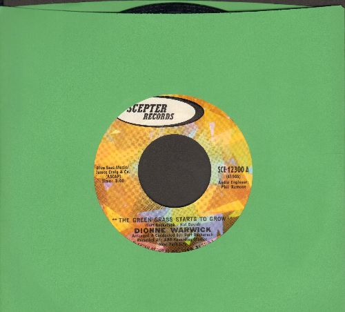 Warwick, Dionne - The Green Grass Starts To Grow/They Don't Give Metals To Yesterday's Heroes - NM9/ - 45 rpm Records
