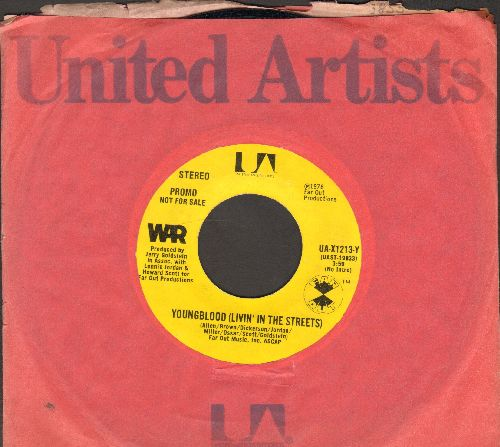 WAR - Youngblood (Livin' In The Street) (double-A-sided DJ advance pressing with company sleeve) - NM9/ - 45 rpm Records