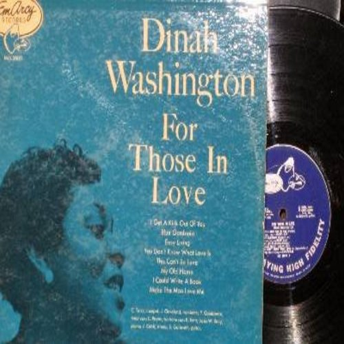 Washington, Dinah - For Those In Love: I Get A Kick Out Of You, My Old Flame, Blue Gardenia, Easy Living (vinyl MONO LP record) - VG6/VG7 - LP Records