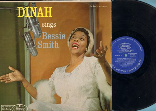 Washington, Dinah - Dinah Sings Bessie Smith: After You've Gone, You've Been A Good Old Wagon, Careless Love, Fine Fat Daddy, Jailhouse Blues (vinyl MONO LP record) - VG7/VG7 - LP Records