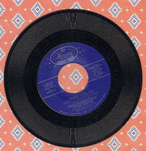 Washington, Dinah & Brook Benton - A Rockin' Good Way/Baby (You've Got What It Takes) (double-hit re-issue) - NM9/ - 45 rpm Records