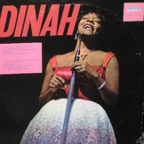 Washington, Dinah - Dinah: Look To The Rainbow, A Cottage For Sale, There'll Be Some Cahnges Made, Smoke Gets In Your Eyes (vinyl STEREO LP record, re-issue of vintage recordings) - EX8/EX8 - LP Records