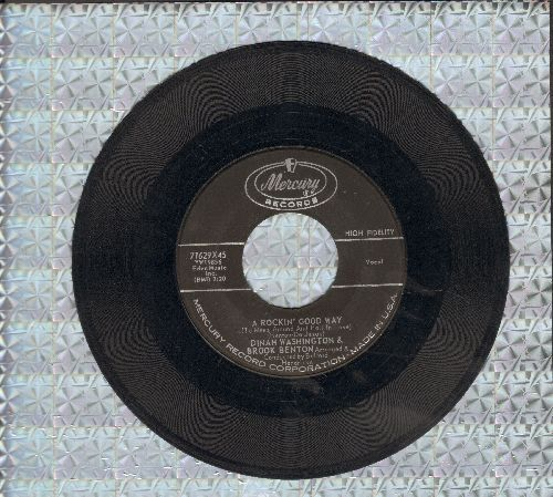 Washington, Dinah & Brook Benton - A Rockin' Good Way/I Believe  - EX8/ - 45 rpm Records