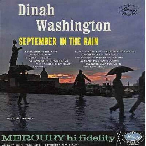 Washington, Dinah - September In The Rain: Softly, I Can't Believe That You're In Love With Me, As Long As I'm In Your Arms, This Heart Of Mine (vinyl MONO LP record) - EX8/EX8 - LP Records