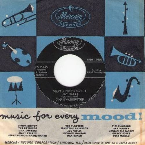 Washington, Dinah - What A Difference A Day Makes/Come On Home (with vintage Murcury company sleeve) - NM9/ - 45 rpm Records