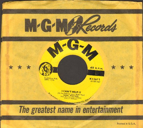 Williams, Hank - I Can't Help It (If I'm Still In Love With You)/Why Don't You Love Me (with vintage MGM company sleeve) - VG6/ - 45 rpm Records