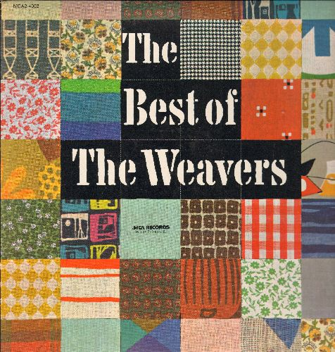 Weavers - Best Of: Goodnight Irene, Old Paint, Wimoweh, On Top Of Ols Smokey, Midnight Special, Kisses Sweeter Than Wine (2 vinyl LP record set, 1980s issue of vintage recordings, counts as 2 LPs) - NM9/NM9 - LP Records
