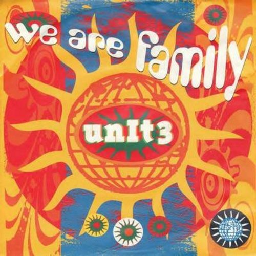 Unit 3 - We Are Family/We All Into Peace (German Pressing with picture sleeve) - M10/EX8 - 45 rpm Records