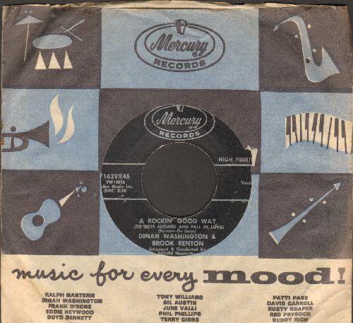 Washington, Dinah & Brook Benton - A Rockin' Good Way/I Believe (with vintage Mercury company sleeve) - NM9/ - 45 rpm Records