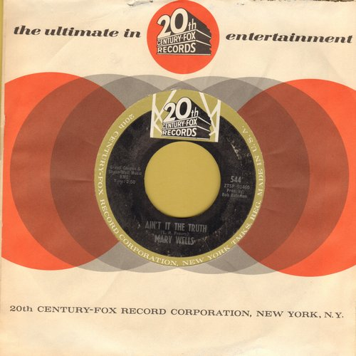 Wells, Mary - Ain't It The Truth/Stop Takin' Me For Granted (with RARE vintage 20th Century Fox company sleeve) - NM9/ - 45 rpm Records