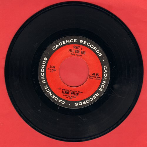 Welch, Lenny - Since I Fell For You/Are You Sincere - EX8/ - 45 rpm Records