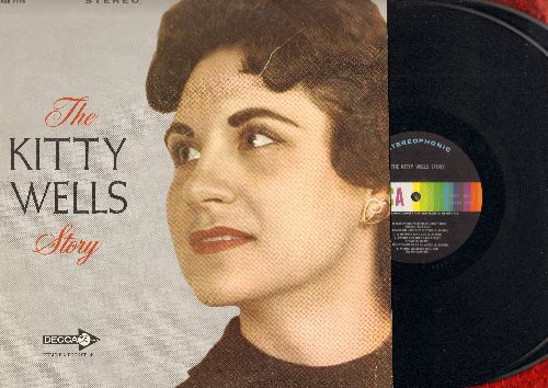Wells, Kitty - The Kitty Wells Story: It Wasn't God Who Made Honky Tonk Angels, Touch And Go Heart, Mommy For A Day, Jealousy (2 vinyl STEREO LP record set, gate-fold cover) - NM9/VG7 - LP Records