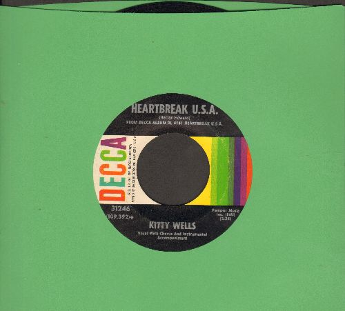 Wells, Kitty - Heartbreak U.S.A./There Must Be Another Way To Live - NM9/ - 45 rpm Records