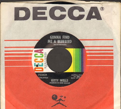Wells, Kitty - Gonna Find Me A Bluebird/I Don't See What I saw (with Decca company sleeve) (bb) - NM9/ - 45 rpm Records