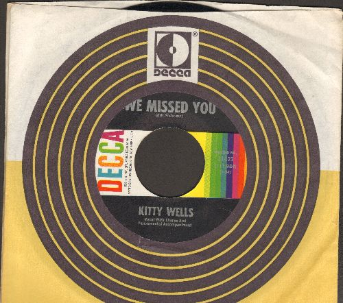 Wells, Kitty - We Missed You/Wicked World (with vintage Decca company sleeve) - NM9/ - 45 rpm Records
