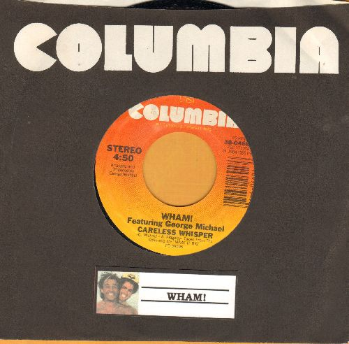 Wham! - Careless Whisper/Careless Whisper (Instrumental) (with Columbia company sleeve) - NM9/ - 45 rpm Records