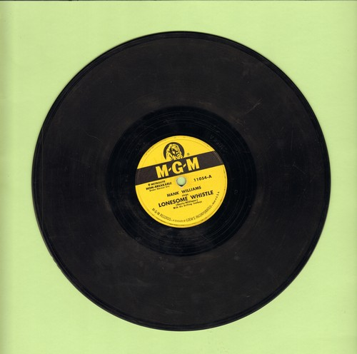 Williams, Hank - Lonesome Whistle/Crazy heart (10 inch 78 rpm record) - VG7/ - 78 rpm