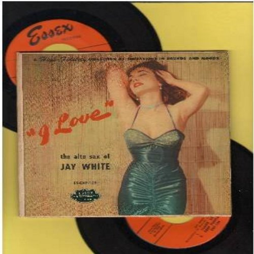 White, Jay - I Love: Laura/On The Trail/Tosselli's Serenade/Claire De Lune/Deep Purple/Estrellita/Over The Rainbow (1954 Original issue 2 vinyl EP record set in gate-fold picture cover) - EX8/EX8 - 45 rpm Records