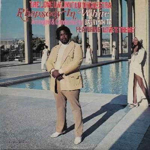 Love Unlimited Orchestra - Rhapsody In White - Arranged and Conducted by Barry White: Love's Theme, I Feel Love Coming On, Baby Blues, What A Groove (vinyl STEREO LP record) - NM9/EX8 - LP Records