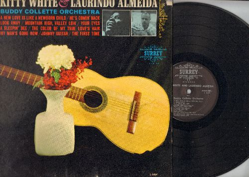 White, Kitty & Laurindo Almeda - Kitty White & Laurindo Almeida: The Color Of My True Love's Hair, Johnny Guitar, The First Time, A Sleeping Bee (vinyl MONO LP record) - NM9/EX8 - LP Records