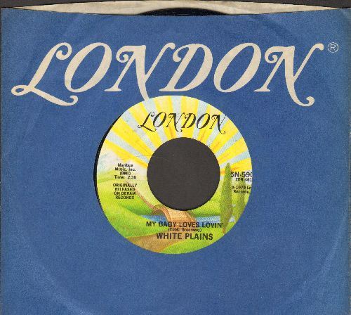 White Plains - My Baby Loves Lovin'/United We Stand (by Brotherhood of Man on flip-side) (re-issue with London company sleve) - NM9/ - 45 rpm Records