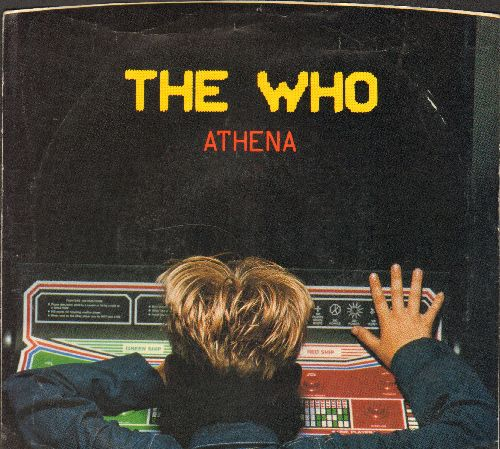 Who - Athena/It's Your Turn (with picture sleeve) - NM9/EX8 - 45 rpm Records