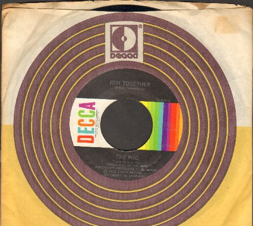 Who - Join Together/Baby Don't You Do It (with Decca company sleeve) - NM9/ - 45 rpm Records