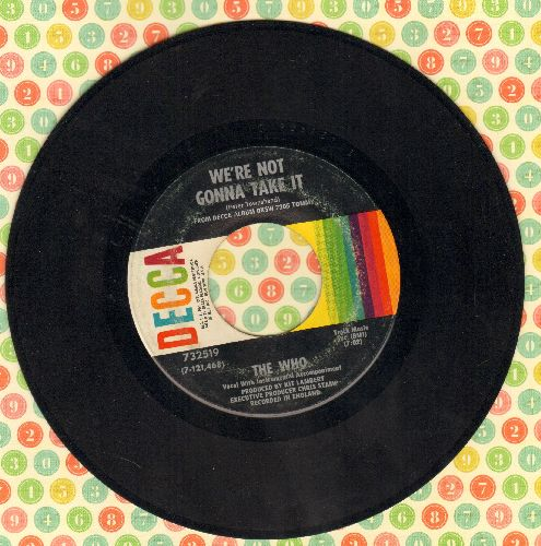 Who - We're Not Gonna Take It/I'm Free  - EX8/ - 45 rpm Records