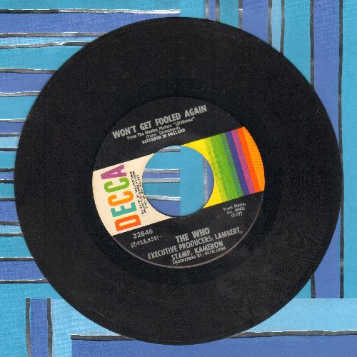Who - Won't Get Fooled Again/I Don't Even Know Myself - EX8/ - 45 rpm Records
