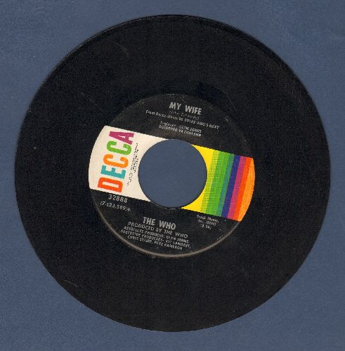 Who - My Wife/Behind Blue Eyes (bb) - EX8/ - 45 rpm Records