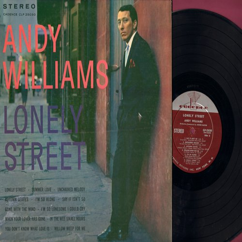 Williams, Andy - Lonely Street: Summer Love, Unchained Melody, Gone With The Wind (vinyl STEREO LP record) - NM9/EX8 - LP Records