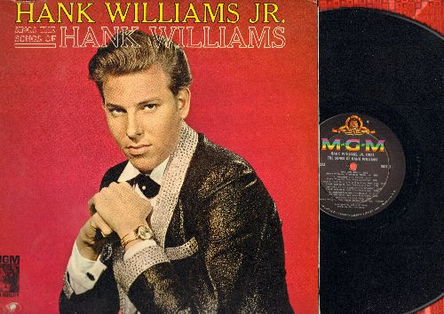 Williams, Hank Jr. - Sings The Songs Of Hank Williams: Your Cheatin' Heart, I'm So Lonesome I Could Cry, Cold Cold Heart, You Win Again, Jambalaya (vinyl MONO LP record, bb in lower left cover) - NM9/EX8 - LP Records