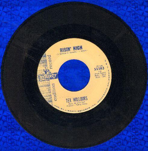 Williams, Tex - Risin' High/Go Into The Mountains (DJ advance pressing) - EX8/ - 45 rpm Records