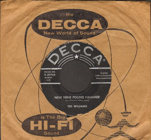 Williams, Tex - New Nine Pound Hammer/Pauline (with vintage Decca company sleeve) - VG6/ - 45 rpm Records