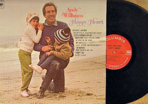 Williams, Andy - Happy Heart: My Way, Gentle On My Mind, Memories, Little Green Apples, Here There And Everywhere, Abraham Martin And John (vinyl STEREO LP record) - EX8/EX8 - LP Records