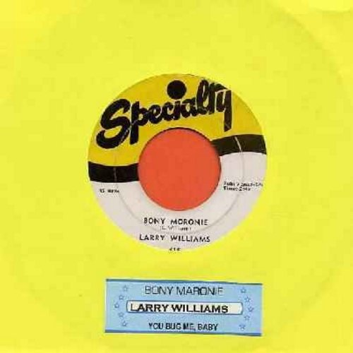 Williams, Larry - Bony Moronie/You Bug Me, Baby (with juke box label) - VG7/ - 45 rpm Records