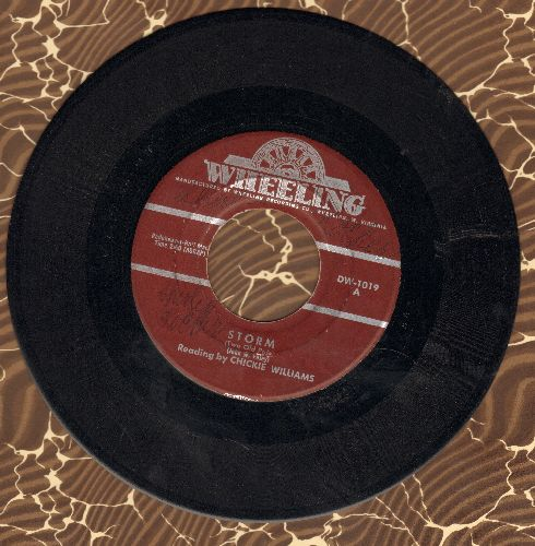 Williams, Chikcie - Storm (ULTRA-Sentimental Spoken Words)/Wintertime In Maine - VG7/ - 45 rpm Records