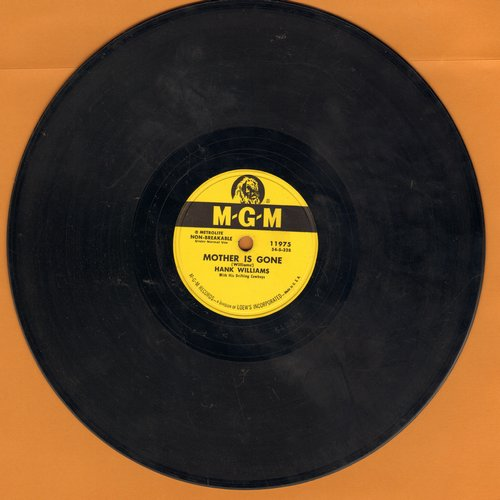 Williams, Hank - Long Gone Lonesome Blues/My Calls Another Man Daddy (10 inch 78 rpm record) - VG7/ - 78 rpm