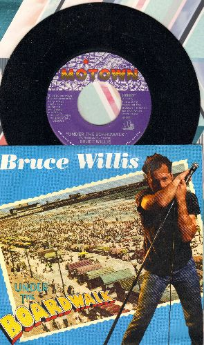 Willis, Bruce - Under The Boardwalk/Jackpot (Bruno's Bop) (with picture sleeve, song lyrics on back) - NM9/NM9 - 45 rpm Records