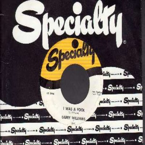 Williams, Larry - Peaches And Cream/I Was A Fool - NM9/ - 45 rpm Records