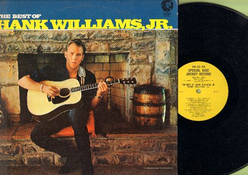 Williams, Hank Jr. - The Best Of: Standing In The Shadows, Long Gone Lonesome Blues, Nobody's Child, That's How I Wanted It To Be, Endless Sleep (vinyl MONO LP record, DJ advance pressing, woc) - NM9/VG7 - LP Records