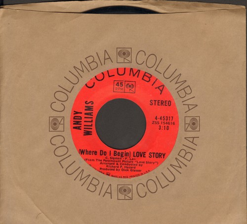 Williams, Andy - Something/(Where Do I Begin) Love Story - NM9/ - 45 rpm Records