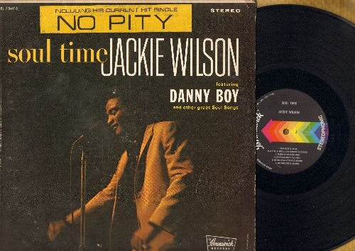 Wilson, Jackie - Soul Time: No Oity (in The Naked City), Danny Boy, She'll Be There, Star Dust, No Time Out (vinyl STEREO LP record) - NM9/VG7 - LP Records