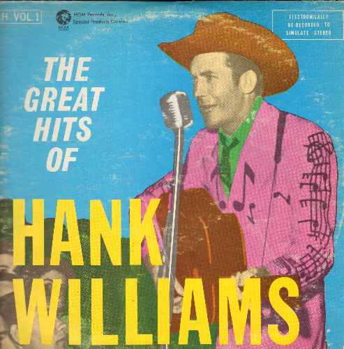 Williams, Hank - The Great Hits Of Hank Williams: Your Cheatin' Heart, Jambalaya, Rootie Tootie, Hey Good Lookin', Half As Much (2 vinyl LP record set) - NM9/VG6 - LP Records