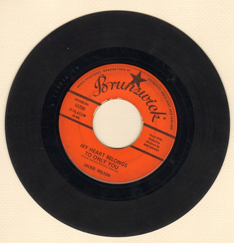 Wilson, Jackie - My Heart Belongs To Only You/The Way I Am (sol) - VG7/ - 45 rpm Records