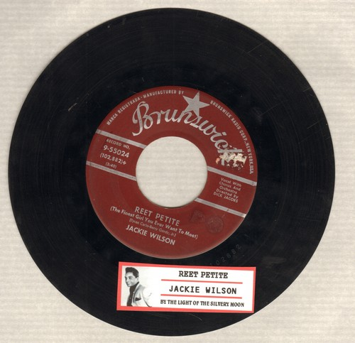 Wilson, Jackie - Reet Petite/By The Light Of The Silvery Moon (maroon label first issue with juke box label) - VG7/ - 45 rpm Records