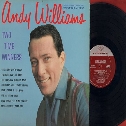 Williams, Andy - Two Time Winners: Blueberry Hill, It's All In The Game, My Happiness, Hawaiian Wedding Song, Twilight Time, Sail Along Silv'ry Moon (vinyl MONO LP record, NICE condition!) - NM9/NM9 - LP Records