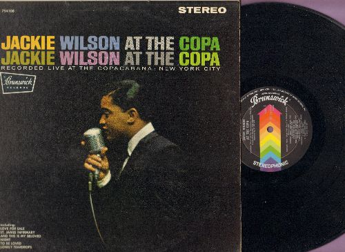 Wilson, Jackie - At The Copa: Tonight, And This Is My Beloved, St. James Infirmary, The Way I Am, A perfect Day (vinyl LP record, RARE STEREO Pressing!) - EX8/VG7 - LP Records