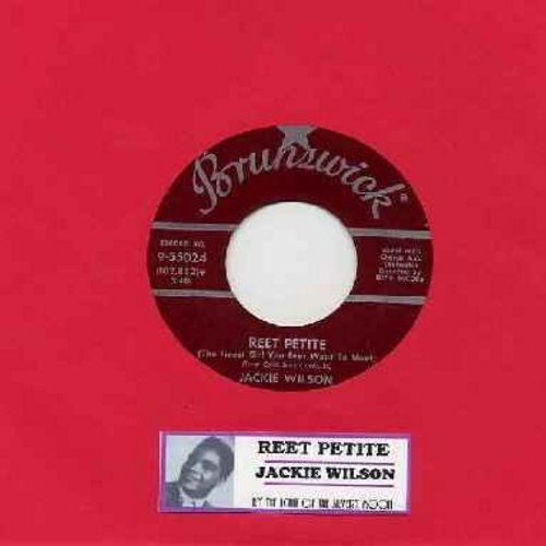 Wilson, Jackie - Reet Petite/By The Light Of The Silvery Moon (maroon label first issue with juke box label) - EX8/ - 45 rpm Records