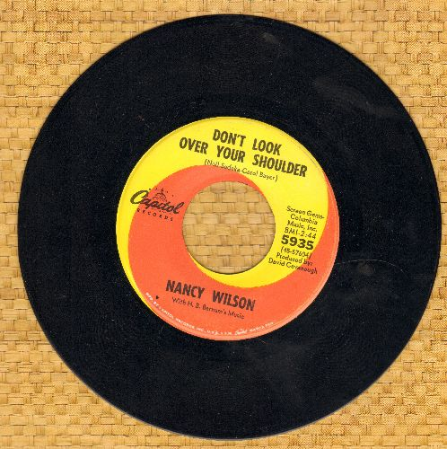 Wilson, Nancy - Don't Look Over Your Shoulder/But Only Sometimes - NM9/ - 45 rpm Records